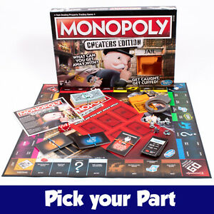 PICK-YOUR-PARTS-Monopoly-CHEATERS-Edition-Board-Game-SPARES-REPLACEMENTS