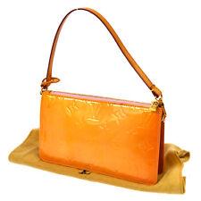 AUTHENTIC LOUIS VUITTON VERNIS LEXINGTON HAND BAG POUCH PINK M91057 A32492