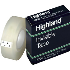 Highland Mmm6200341296 34w Matte Finish Invisible Tape 1 Roll Matte Clea