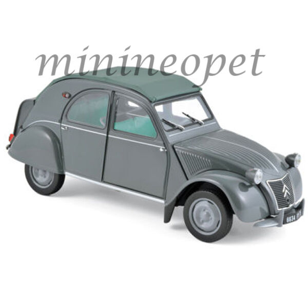 NOREV 181499  1957 CITROEN 2CV AZL MALLE BOMBEE 1 18 DIECAST MODEL voiture gris  acheter des rabais