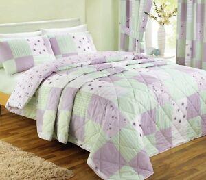 Image Is Loading Lilac Patchwork Vintage Shabby Chic Bedding Duvet Set