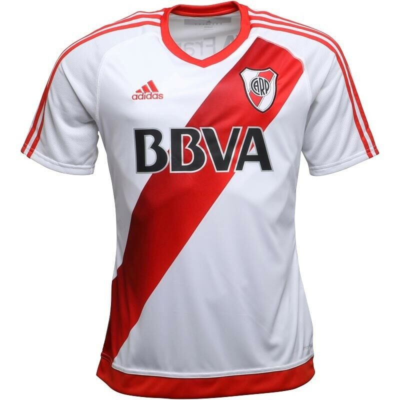 Adidas Mens CARP River Plate Home Shirt White Power Red Size L BNWT ⚽️