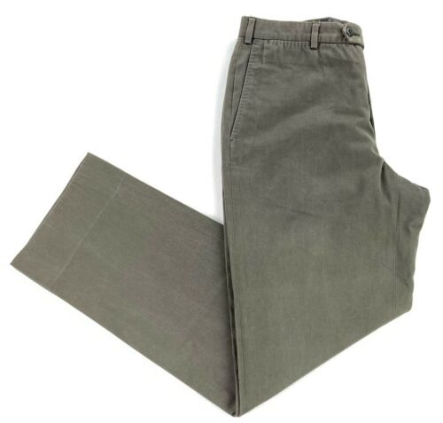 Ermenegildo Zegna Men's Cotton Chino Pants Militar