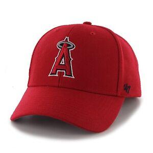Anaheim-Angels-47-Brand-MVP-Clean-Adjustable-Strap-On-Field-Red-Hat-Cap-MLB