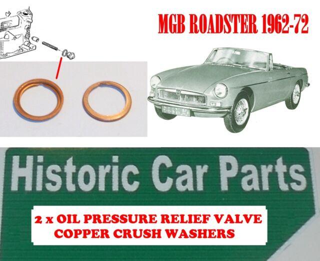 Oil Pressure Relief Valve COPPER CRUSH WASHER for Austin Morris Mini 850 1959-69