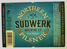 Sudwerk Brewing Co SUDWERK NORTHERN PILSNER beer label CA 12oz