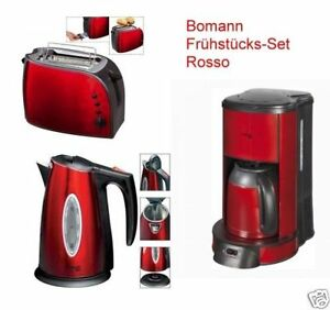 bomann wasserkocher toaster kaffeemaschine rosso set. Black Bedroom Furniture Sets. Home Design Ideas