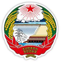 Corea del Nord North Korea stemma coat of arms etichetta sticker 12cm x 11cm