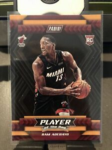 💥HOT💥 2017-18 PANINI PLAYER OF THE DAY #R9 BAM ADEBAYO RC Rookie Miami Heat 💵