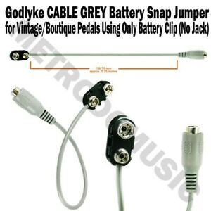 Godlyke-CABLE-GREY-9V-Battery-Snap-Jumper-Adapter-for-Pedals-with-No-Power-Jack