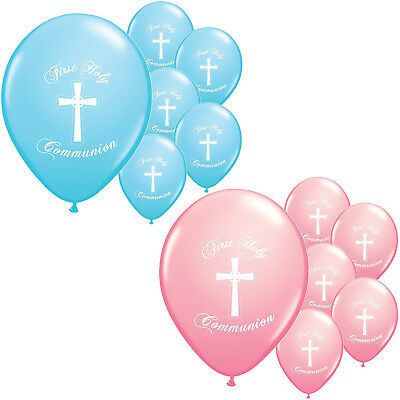 "10 x première communion symboles Girl Qualatex 11 /""ballons de latex"
