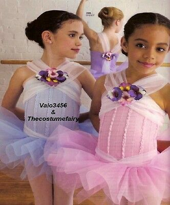 Blooming Beauty Dance Costume ORCHID Ballet Tutu, Flowers Clearance Adult Large