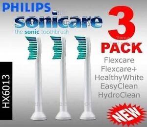 GENUINE-Philips-Sonicare-HX6013-PR-Toothbrush-brush-heads-x-3