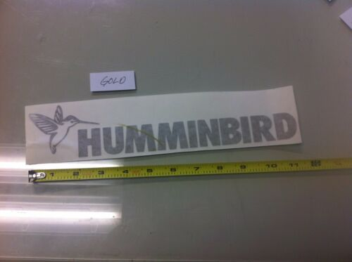 "Humminbird GOLD 11/"" vinyl sticker decal lake truck boat fishing lake 4x4"
