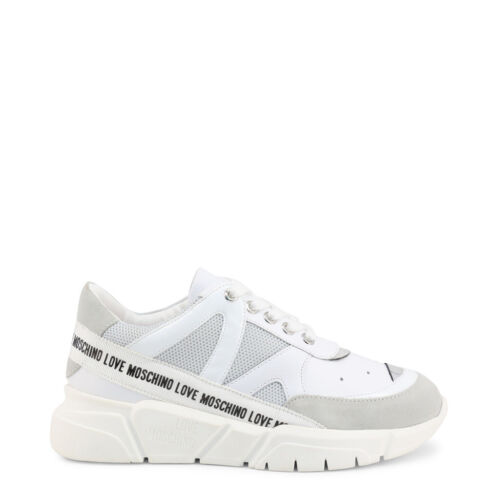 Love Moschino Sneakers Trainers Shoes Women/'s White Monogram Low Top EU39//US9