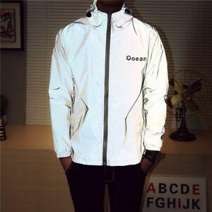Men-039-s-Waterproof-Luminous-Jacket-Long-Sleeve-Hooded-Casual-Zipper-Coat-CA
