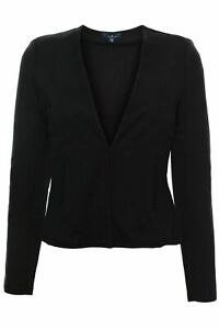 Tom-tailor-Jersey-blazer-blazer-Cardigan-levita-chaqueta-senora-negros-algodon