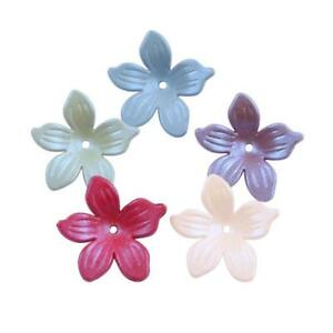 50pcs-Mixed-Acrylic-Frosted-flowers-Beads-Headdress-flower-accessories-19mm-DIY