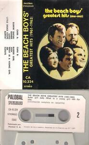 THE-BEACH-BOYS-Greatest-hits-1960-65-DIFFICULT-SPANISH-Cassette-SPAIN-collectors
