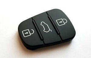 3-Tasten Gummi f. Klapp-Schlüssel Hyundai i10 i20 i30 ix35 ix20 Elantra key pad