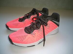 41b09a08d547 NEW Nike Zoom Condition TR Training Shoes WOMENS SZ 8 Lava Pink Grey ...