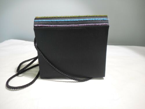 Or Handbag Bag Clutch Shoulder Stripes Crossbody Black Beaded Purse doxBCreW