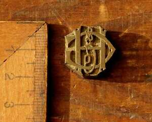 HG-GH-Monogramm-Ornament-Messing-Buchbinden-Praegestempel-Buchbinder-Praegung