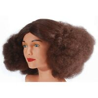 Brown Disco Queen Wig Perm Retro Decade Curly Big Hair 70s Afro Brunette