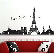 Hot Paris City Eiffel Tower Removable Art Decal Mural Wall Sticker Decor  Bedroom
