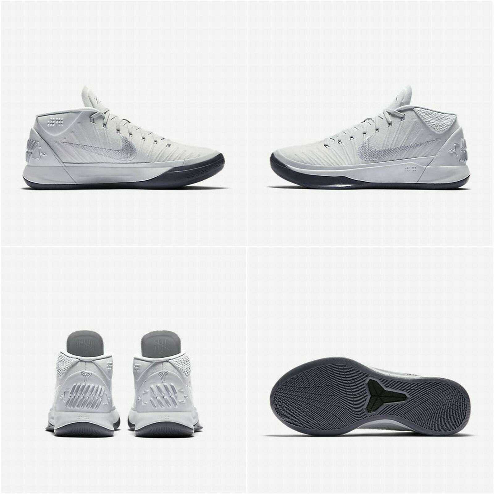 on sale a7397 92cce Nike Kobe AD Mens Basketball Shoes 11.5 Pure Platinum 922482 004