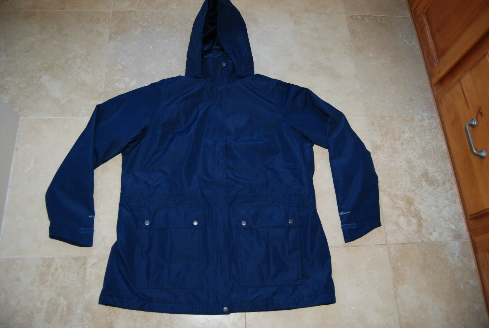 7ad4b78f8f029 Snap Lined Fleece BAUER EDDIE bluee NWT & Navy 1X Coat Hooded Front ...