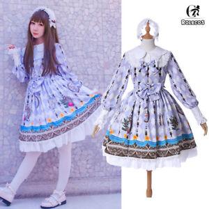 Classic-Lolita-Dresses-Alice-Fairy-Printed-Long-Sleeve-Chiffon-Dress-OP-M-3XL
