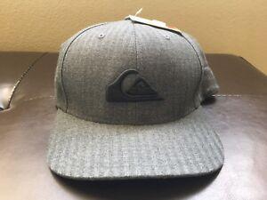 3c3086de2dbc2 Image is loading Quiksilver-Trepidant-Flexfit -Embroidered-Logo-Black-HAT-Cap-