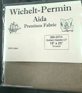 Wichelt-Imports-PREMIUM-Cross-Stitch-Fabric-AIDA-14-ct-18-034-X-25-034-GOLDEN-NEEDLE