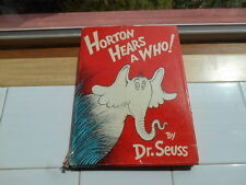 Vintage Horton Hears a Who ! 1954  Dr Seuss HC DJ 295 /295 First / Early Edition