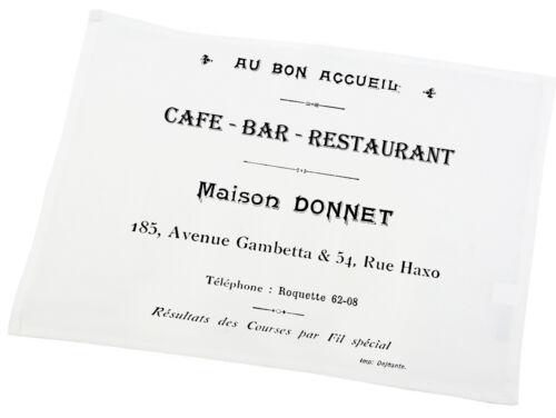 """Landhaus Untersetzer Baumwolle Platzdeckchen Tischset,Weiß,""""Café Bar"""