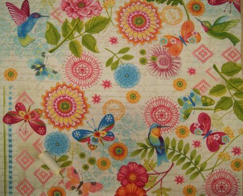 DANCING WINGS Cotton Fabrics By STUDIO E FABRICS Quilting Craft Dressmaking