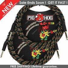 Pig Hog PCH10RA Instrument Cable 10ft Rasta Stripe