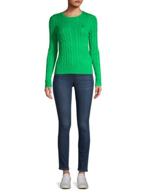Polo Ralph Lauren Cotton Long Sleeve Sweater Women's M Green