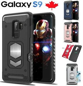 For Samsung Galaxy S9 / Plus Shockproof Card Slot Magnetic Heavy Duty Case