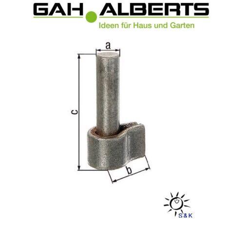 Kloben Stahl roh zum Anschweißen für Ladenbänder Ø 13 16 20 mm GAH Alberts