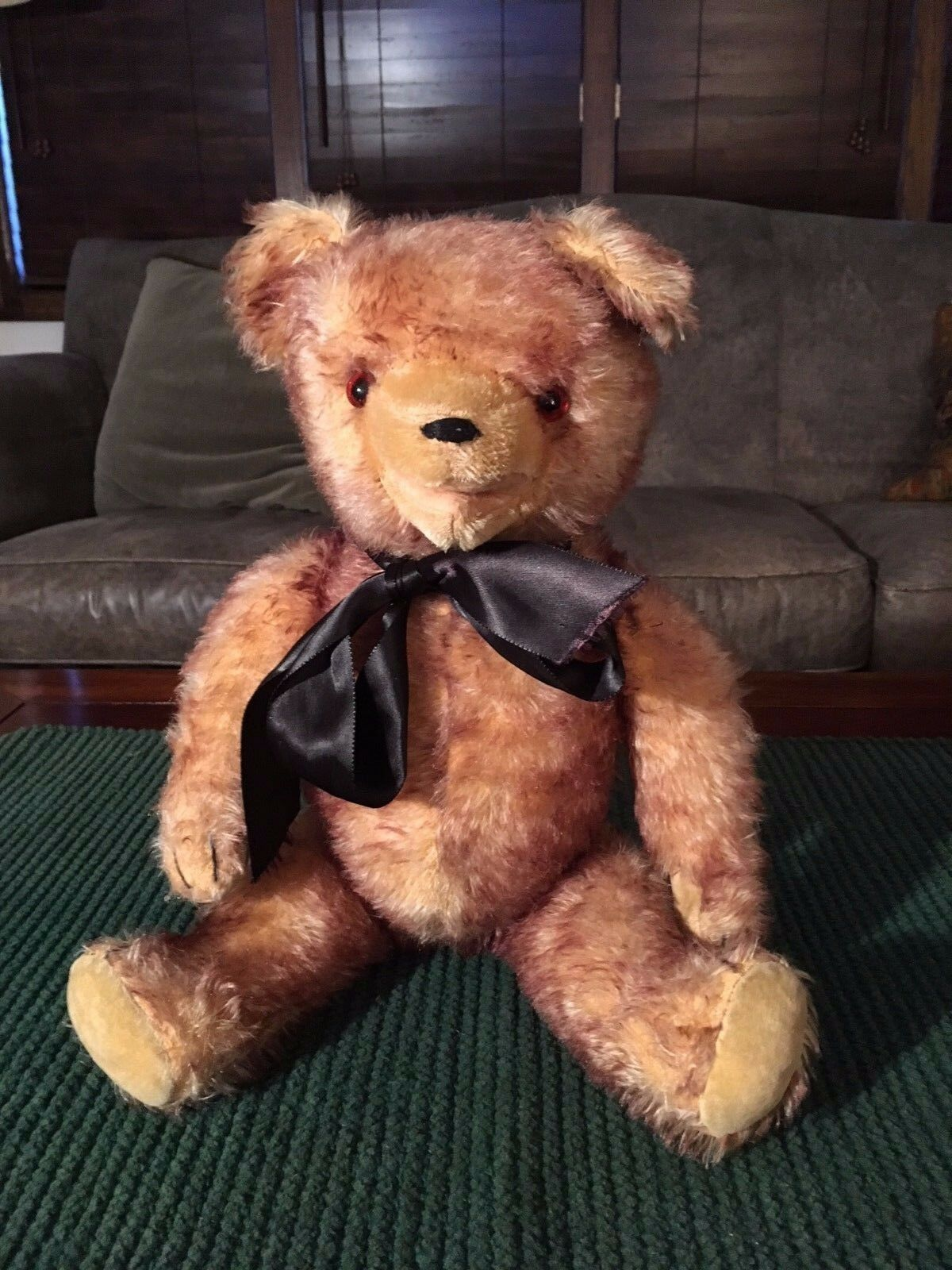 Vintage 1950s German Frosted Mohair 19  Teddy Bear