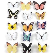 15X DIY 3D Butterfly Wall deco Art Decal Paper Butterflies Home Decor OZ