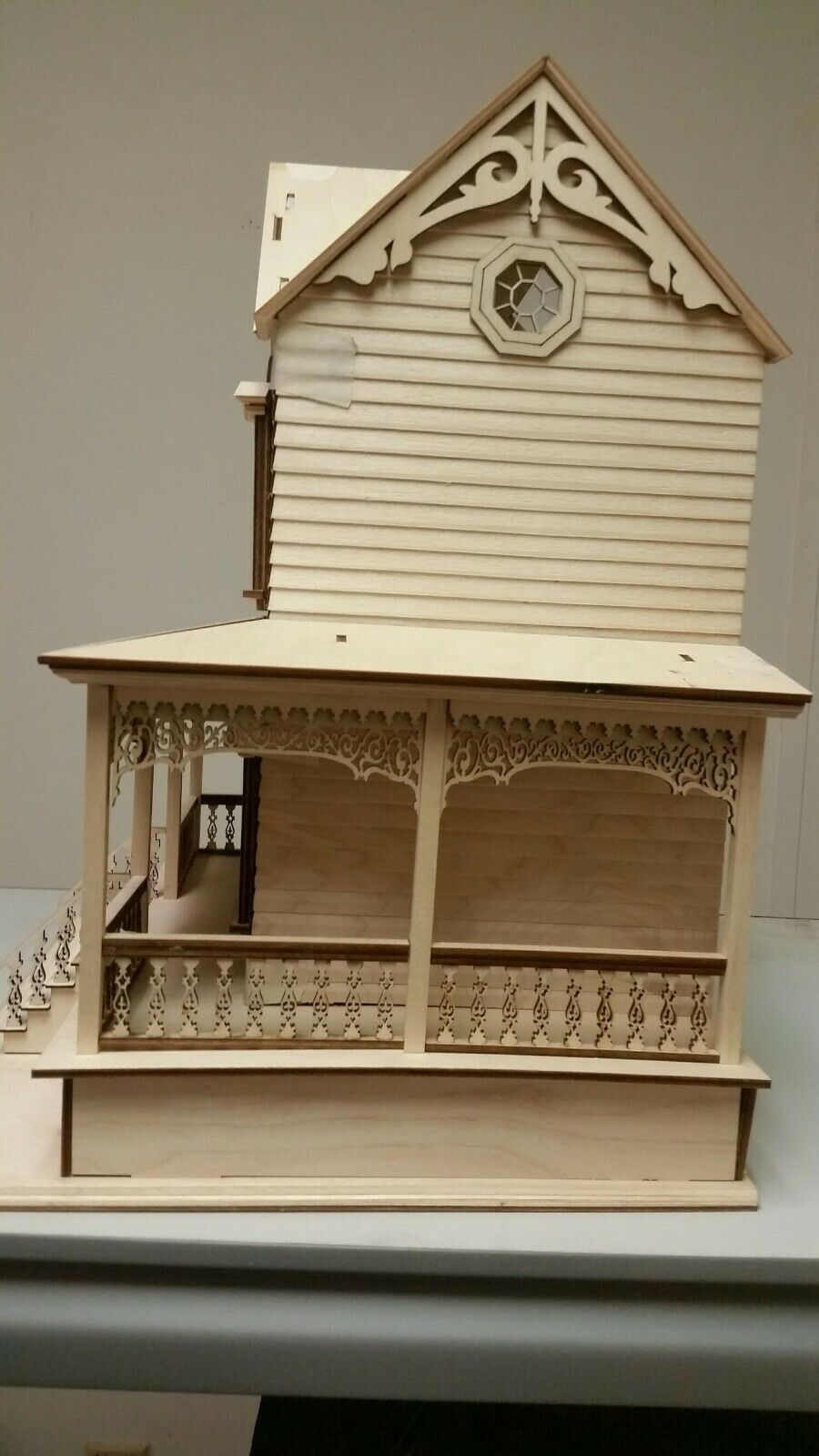 Little Briana Country Victorian Cottage 1:24 Scale Dollhouse NO Shingles