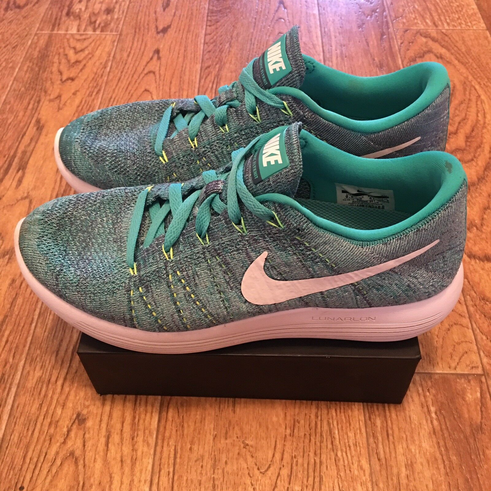 Women's Nike Lunarepic Low Flyknit (843765 301) Jade White US Size 9.5