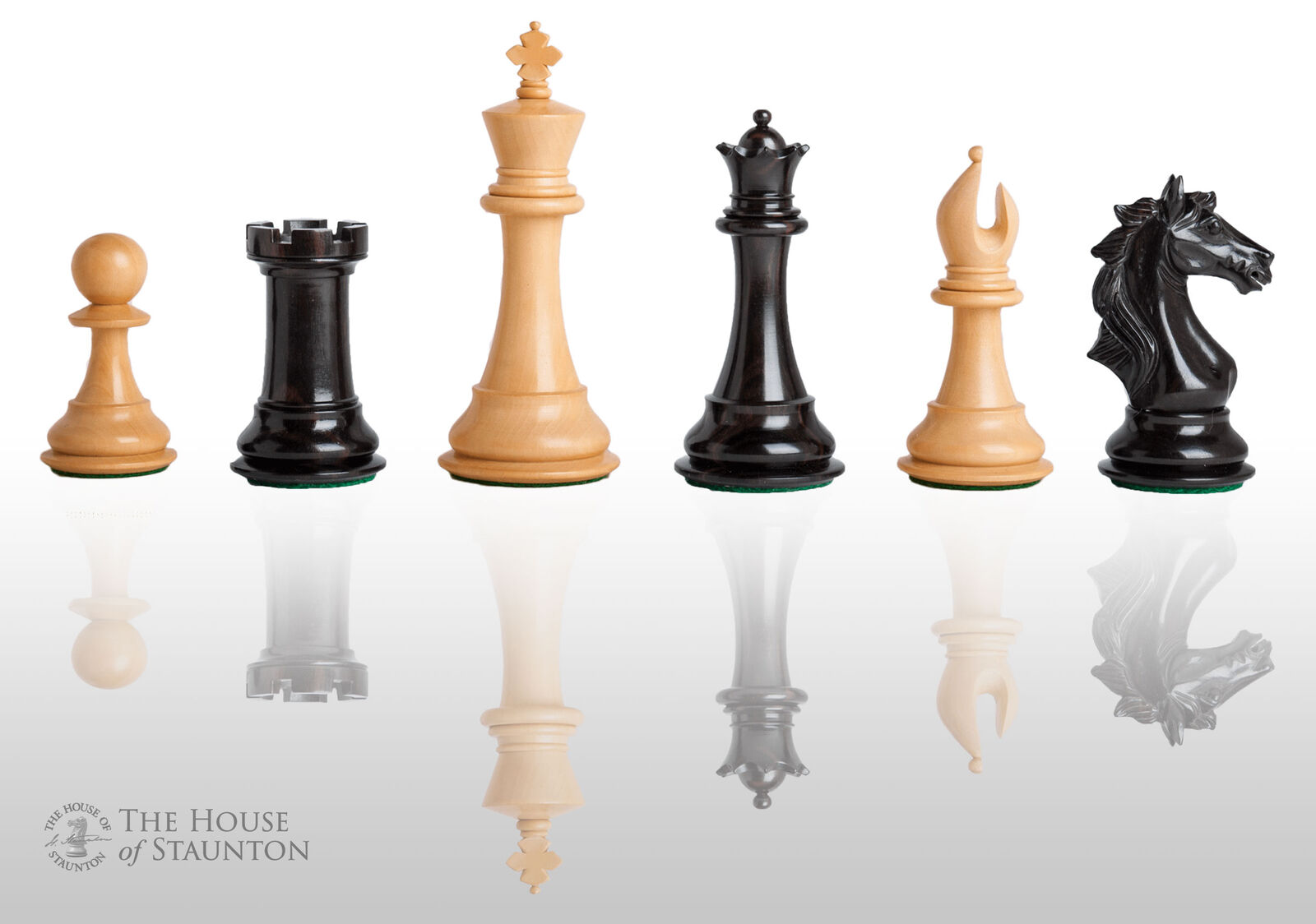 USCF Sales The Cremona Luxury Chess Set - Pieces Only - 4.4  King - Genuine Ebon
