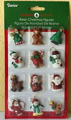 Christmas Dollhouse Decorations.Miniature Dollhouse Mini Christmas Tree 12 1 Resin Sparkly Rustic Ornaments Ebay