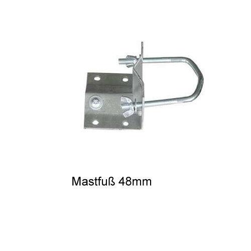TOPWARE mit RECHNUNG Mastfuß Befestigung bis 48mm