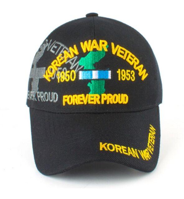 Korean War Veteran Ball Cap US Army Navy Marine Corps USMC USAF USCG Korea White