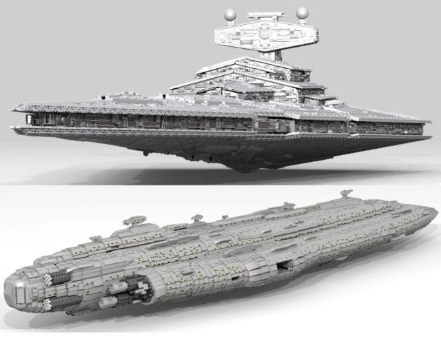 40,000-piece LEGO Star Wars Star Destroyer & Home One (LDD Model + INSTRUCTIONS)